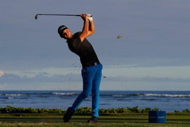 Adam Svensson, durante la primera ronda del Sony Open. © PGA Tour