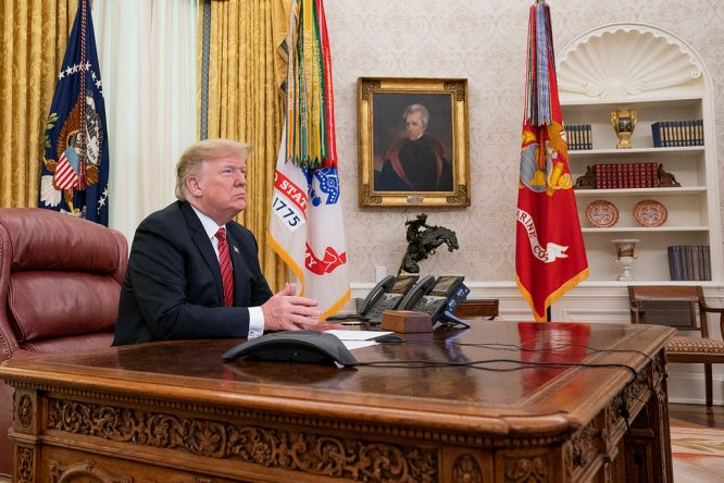 Donald Trump, en el despacho oval © The White House