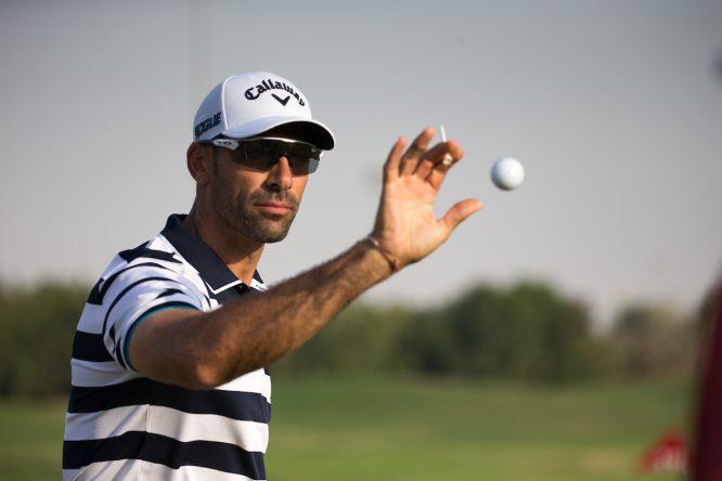 Álvaro Quirós en el Abu Dhabi HSBC Championship 2019. © Golffile | Fran Caffrey