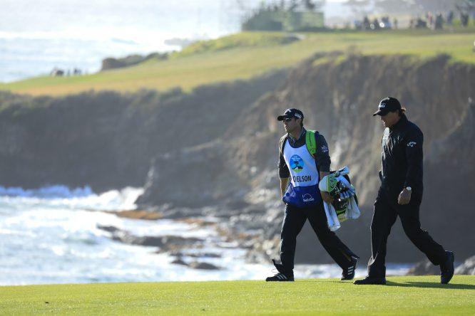 Phil Mickelson, este domingo durante la última ronda del AT&T Pro Am. © Phil Inglis | Golffile