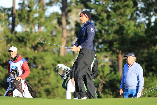Rafa Cabrera Bello en el AT&T Pebble Beach Pro Am. © Golffile | Phil Inglis