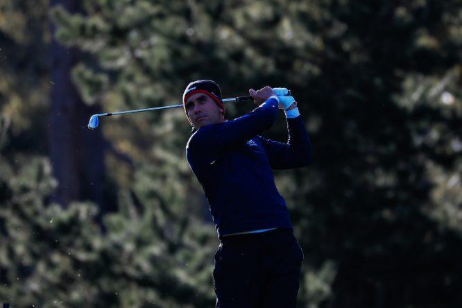 Rafa Cabrera Bello, durante la primera ronda del AT&T Pebble Beach Pro Am. © Golffile | Phil Inglis
