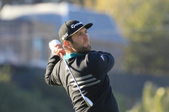 Jon Rahm esta semana en el Genesis Open. © Golffile | Phil Inglis