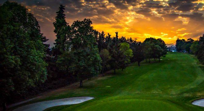Vista del hoyo 10 del Club de Golf Chapultepec.