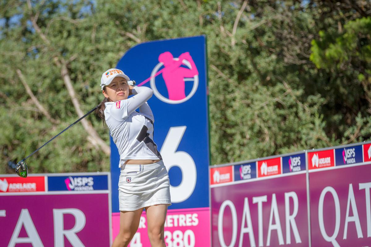 Wei-Ling Hsu, una de las líderes tras la segunda jornada del ISPS Handa Women's Australian Open. © Golffile   David Brand