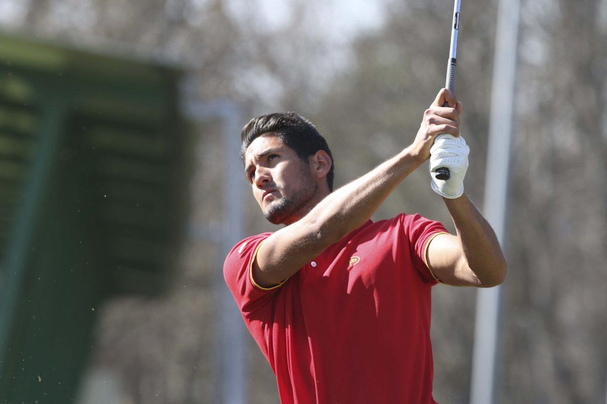 El amateur Julio Moreno en el Centro de Tecnificación de la Federación de Golf de Madrid. © Fernando Herranz