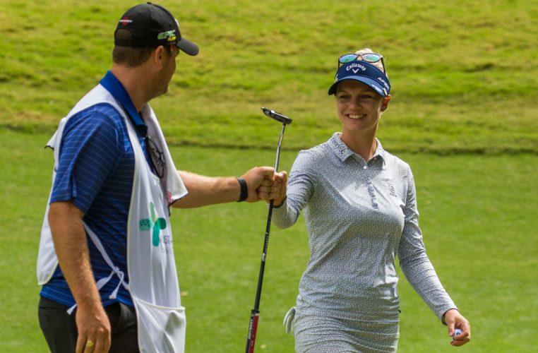 Madelene Sagstrom, líder tras la tercera jornada del Australian Ladies Classic Bonville. © Tristan Jones