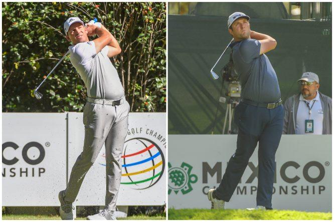Sergio García y Jon Rahm, en la primera ronda del WGC Mexico Championship. © Golffile | Ken Murray