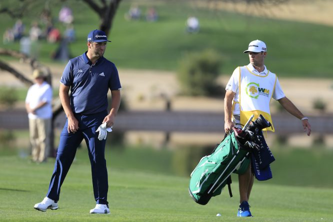 Jon Rahm, durante la primera jornada del Waste Management Phoenix Open. © Golffile   Fran Caffrey