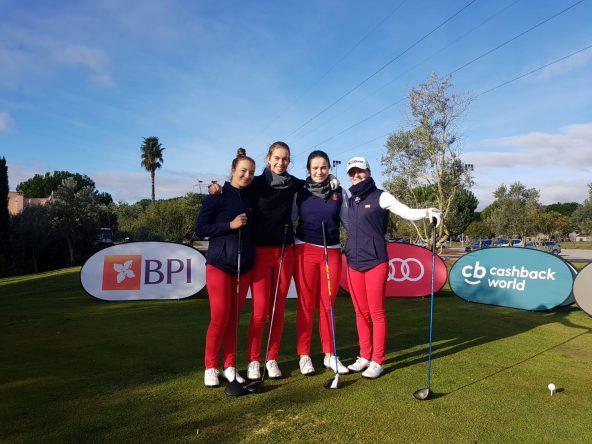 Carla Tejedo, Patricia Garre, María Villanueva y Marina Escobar, en Portugal.