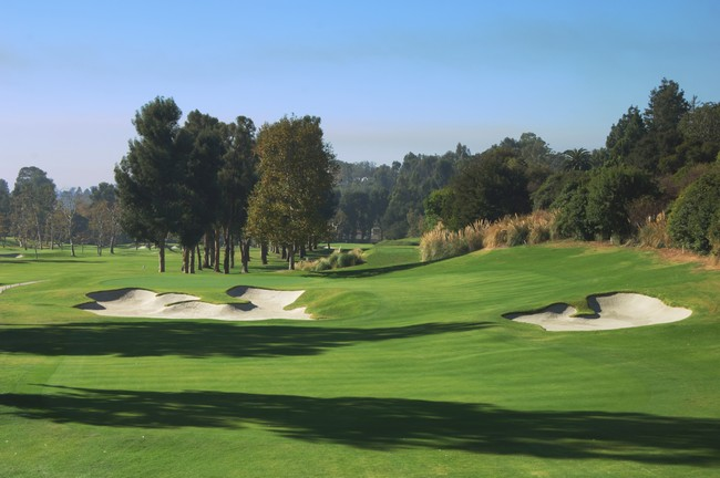 Vista del hoyo 4 del Riviera Country Club. © Riviera CC