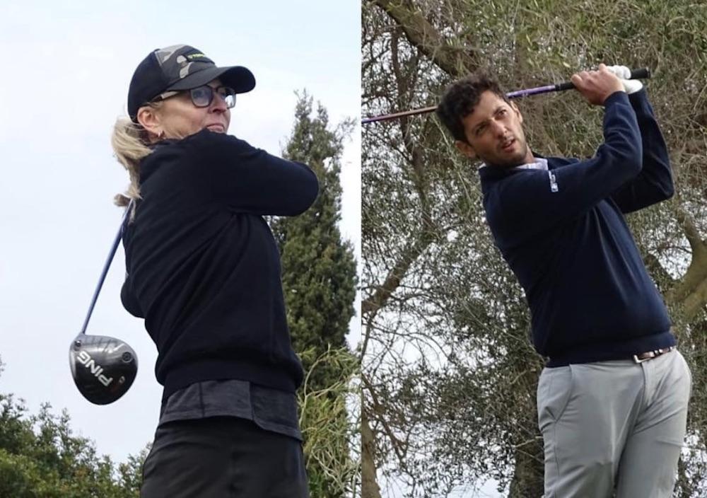 Natascha Segner y Fede Páez. © Federación Balear de Golf