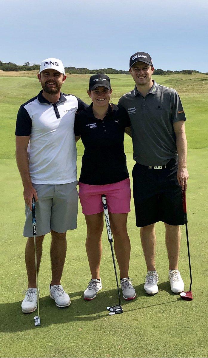 Liam Johnston, Michele Thomson y David Law.