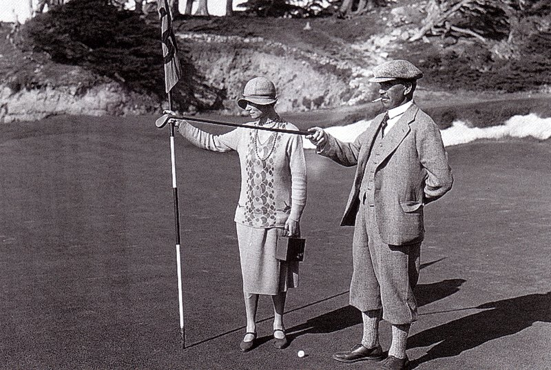 Alister MacKenzies y su mujer Hilda en Cypress Point.
