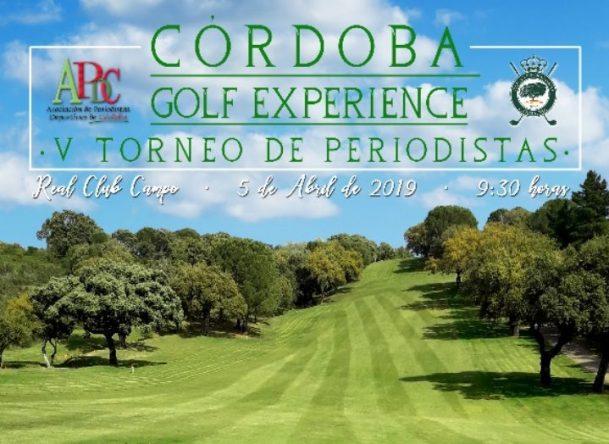 Cartel del V Torneo de Periodistas Córdoba Golf Experience.