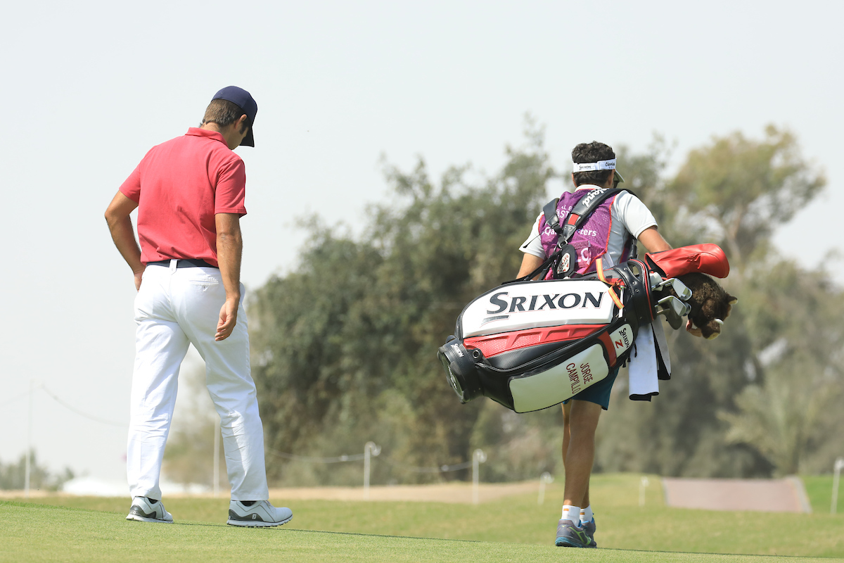 Jorge Campillo hoy sábado en el Doha Golf Club. © Golffile | Phil Inglis