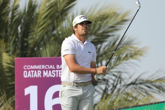 Nacho Elvira durante la tercera jornada del Qatar Master. © Golffile | Phil Inglis