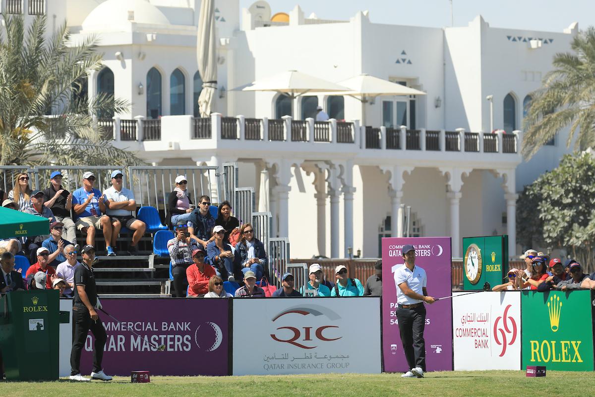 Jorge Campillo en la ronda final en el Doha Golf Club. © Golffile | Phil Inglis