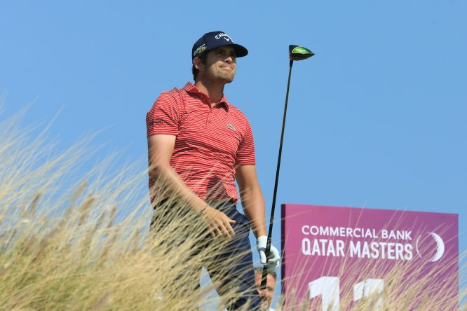 Nacho Elvira durante la jornada final del Qatar Masters. © Golffile | Phil Inglis