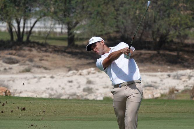 Adri Arnaus en la primera ronda en el Doha Golf Club. © Golffile | Phil Inglis