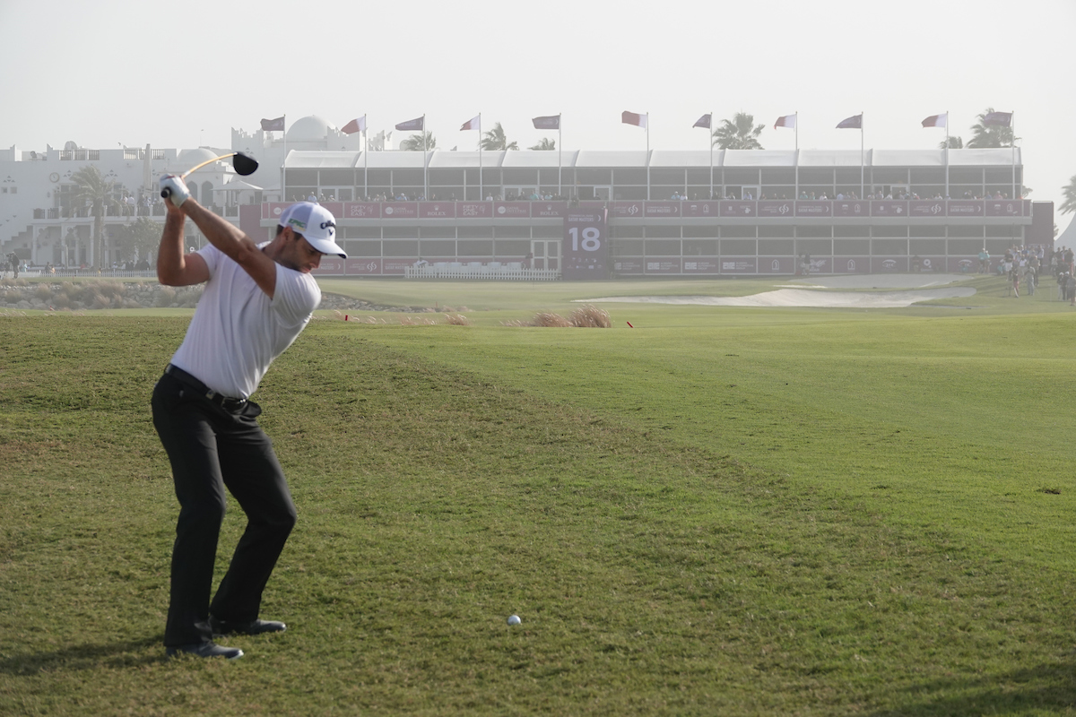 Oliver Wilson, líder del Qatar Masters tras la tercera ronda en el Doha Golf Club. © Golffile | Phil Inglis