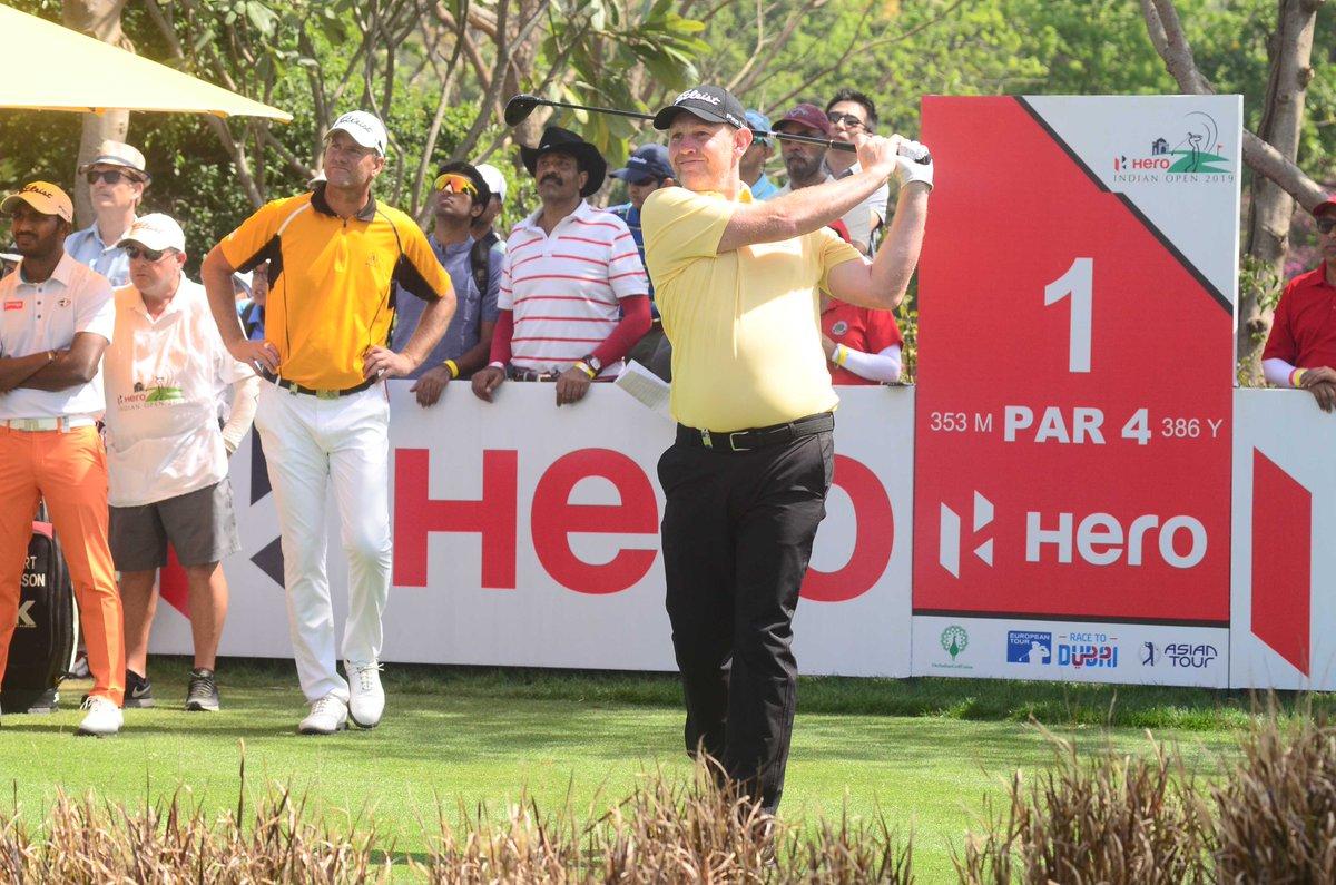 Stephen Gallache, ganador del Hero Indian Open 2019. © HIO