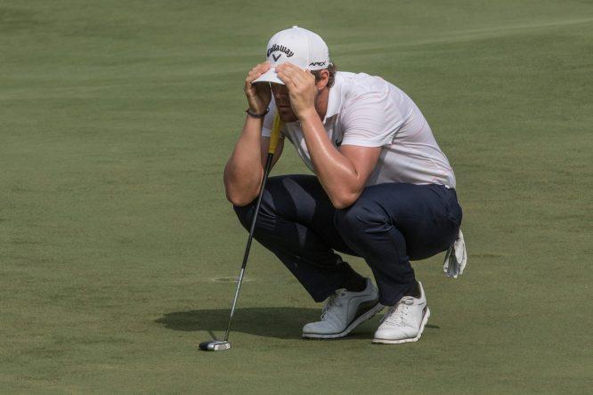 Nacho Elvira en la ronda final en el Saujana Golf and Country Club. © Golffile | Ahmad Yusni