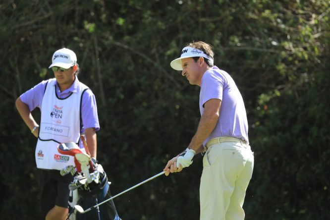 Gonzalo Fernández Castaño esta semana en el Karen Country Club. © Golffile | Phil Inglis