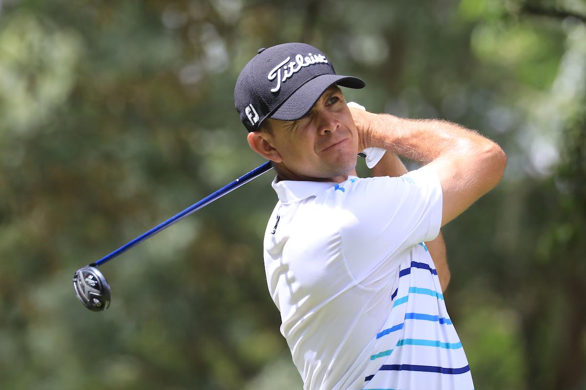 Louis de Jager, líder, durante la segunda ronda en Kenia. © Golffile | Phil Inglis