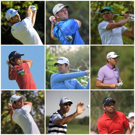 Adri Arnaus, Jon Rahm, Rafa Cabrera Bello, Nacho Elvira, Jorge Campillo, Sergio García, Adrián Otaegui, Álvaro Quirós y Pablo Larrazábal. © Golffile