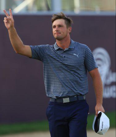 Bryson Dechambeau, tras su triunfo en el Omega Dubai Desert Classic. © Golffile | Thos Caffrey