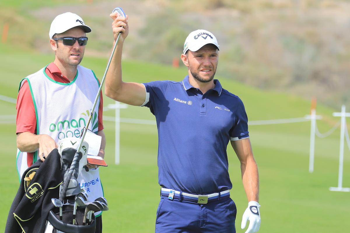 Maximilian Kieffer durante la segunda jornada en Oman. © Golffile | Phil Inglis