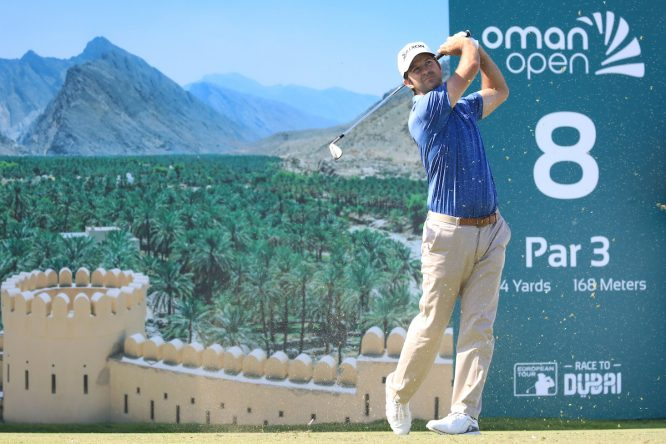 Jorge Campillo en la ronda final del Oman Open. © Golffile | Phil Inglis