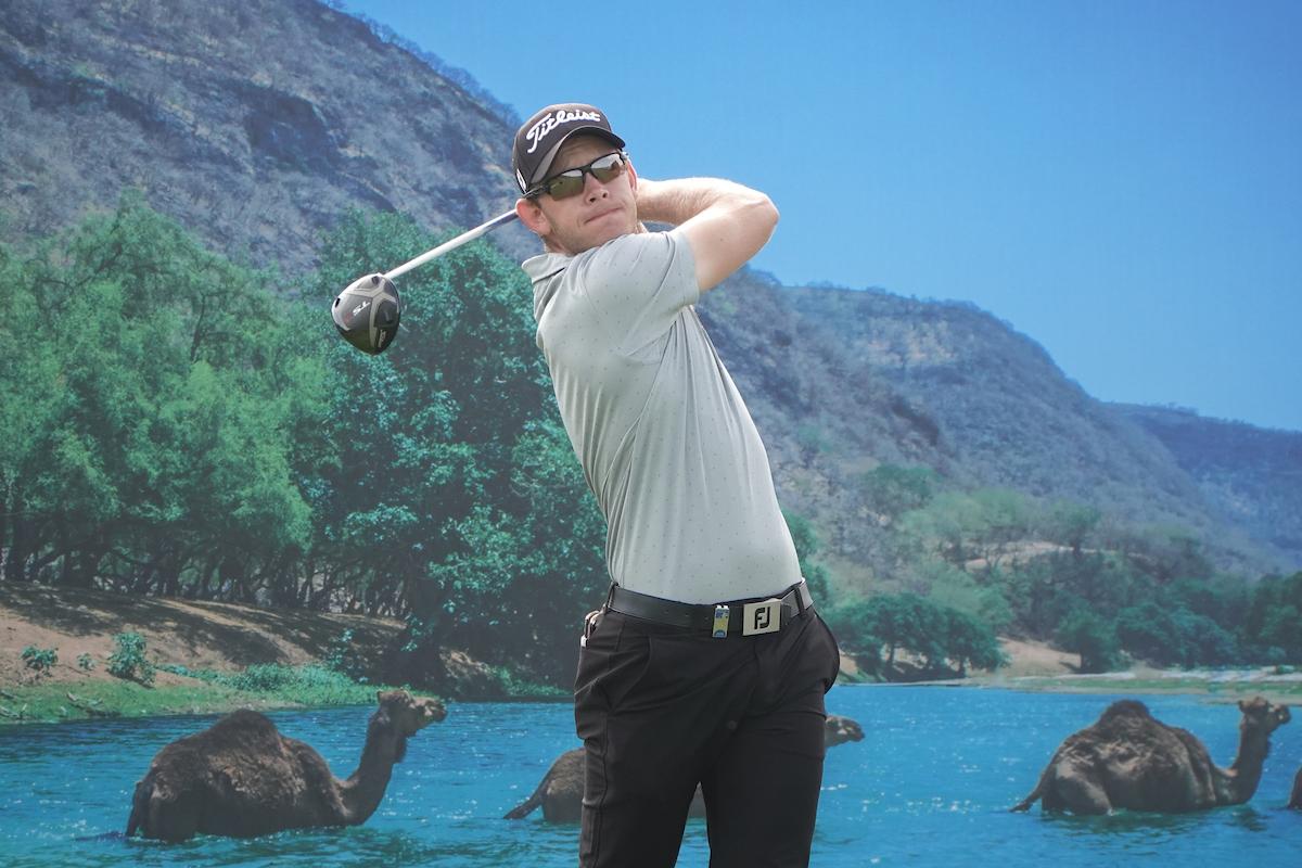Joachim B Hansen en la segunda ronda del Oman Open. © Golffile | Phil Inglis