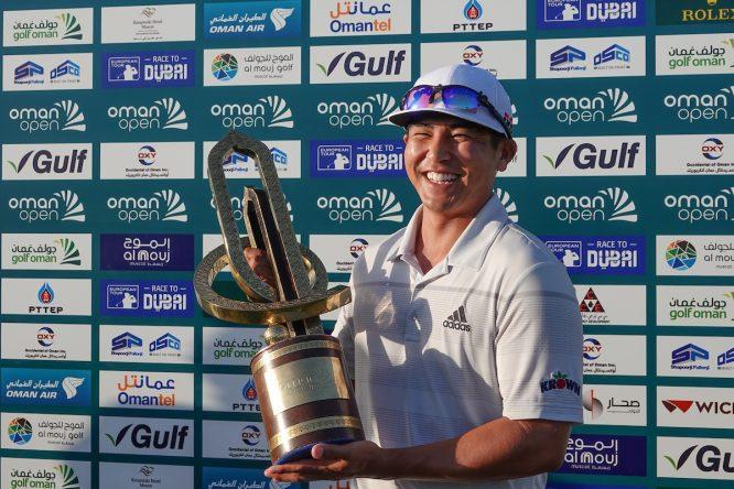 Kurt Kitayama, ganador del Oman Open. © Golffile | Phil Inglis