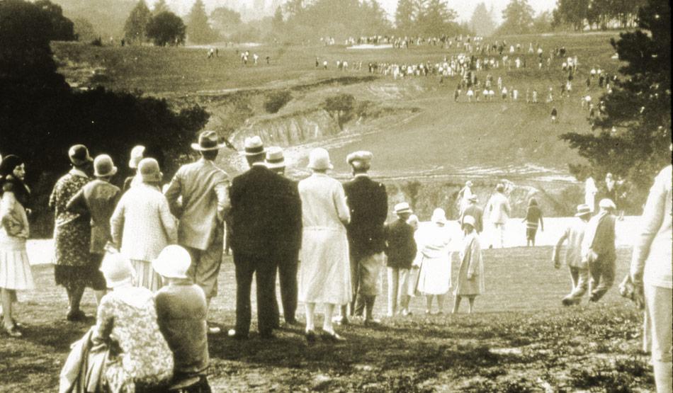 Hoyo 10 del Pasatiempo Golf Club el día de su inauguración.