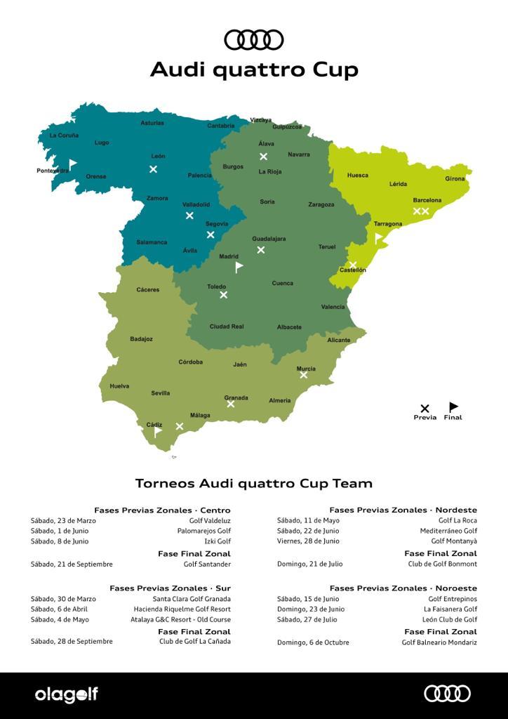 Calendario del Audi quattro Cup Team.