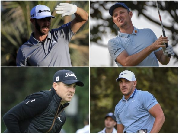 Dustin Johnson, Justin Rose, Justin Thomas y Brooks Koepka. © Golffile