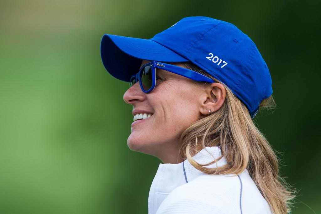 Paula Martí, durante la pasada Solheim Cup.