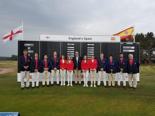 Equipo español del Match España - Inglaterra © Ernesto Fernández