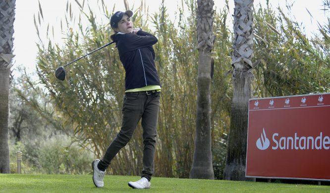 María Hernández, líder del Santander Golf Tour en Málaga.