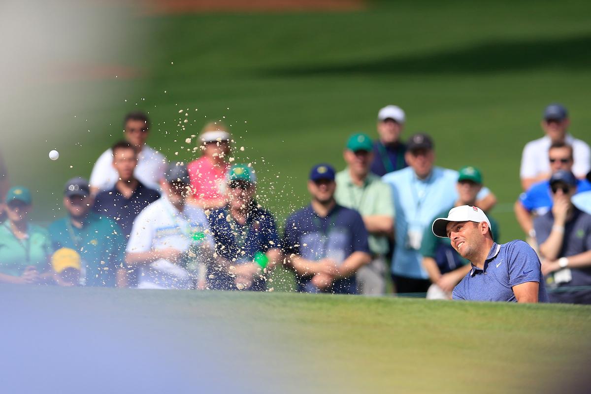 Francesco Molinari, uno de los cinco líderes, durante la segunda ronda en Augusta. © Golffile | Fran Caffrey