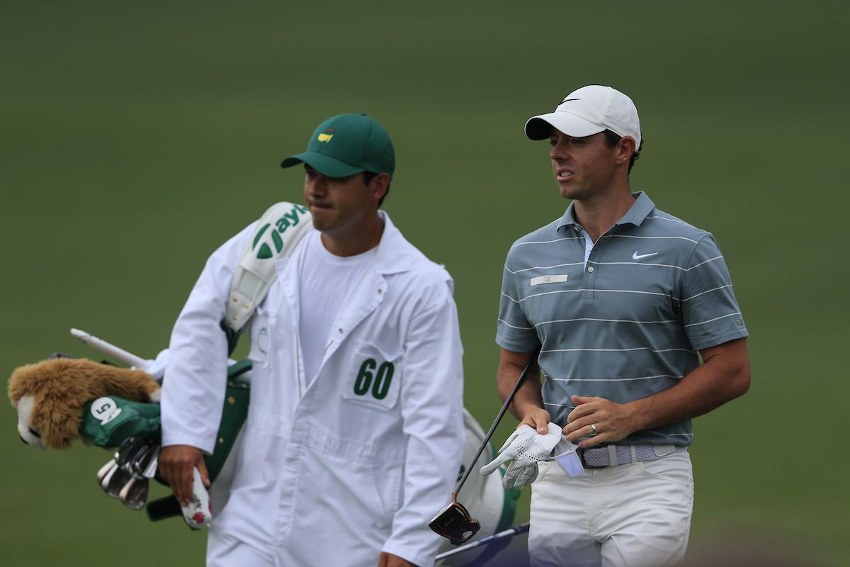 Rory McIlroy el sábado en Augusta. © Golffile | Fran Caffrey