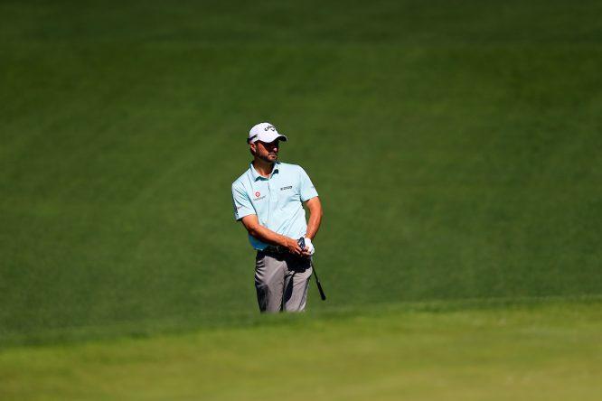 Kevin Kisner esta semana en el Augusta National. © Golffile   Fran Caffrey