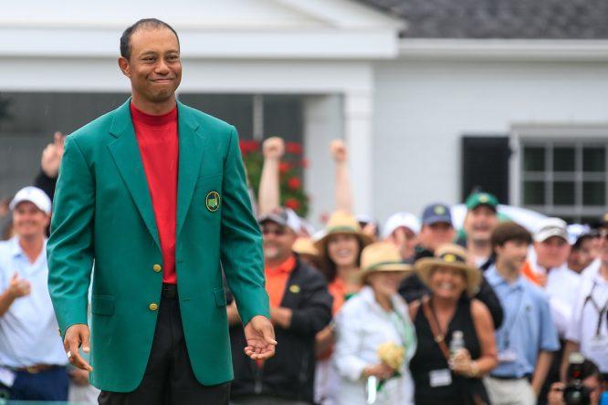 Tiger Woods tras ganar el Masters de Augusta 2019. © Golffile | Fran Caffrey