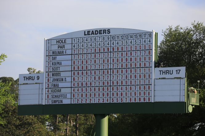 Así estaba la clasificación tras la tercera ronda. © Golffile | Fran Caffrey
