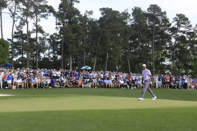 Tiger Woods, durante la tercera ronda del Masters de Augusta. © Golffile   Fran Caffrey