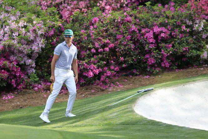 Rafa Cabrera Bello, durante la primera vuelta del Masters de Augusta. © Golffile | Fran Caffrey