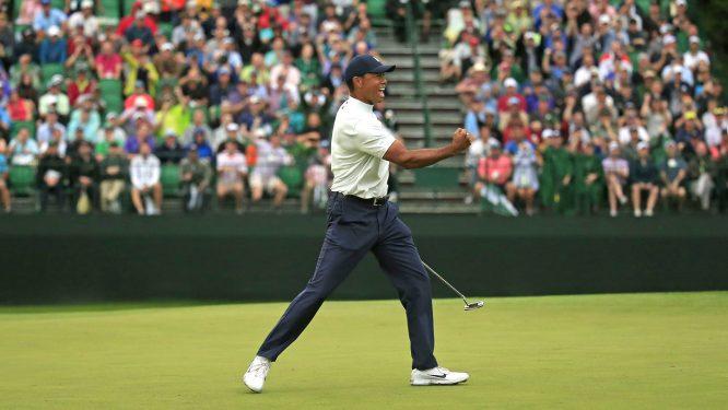 Tiger Woods en el hoyo 15 durante la segunda jornada del Masters de Augusta. © The Masters