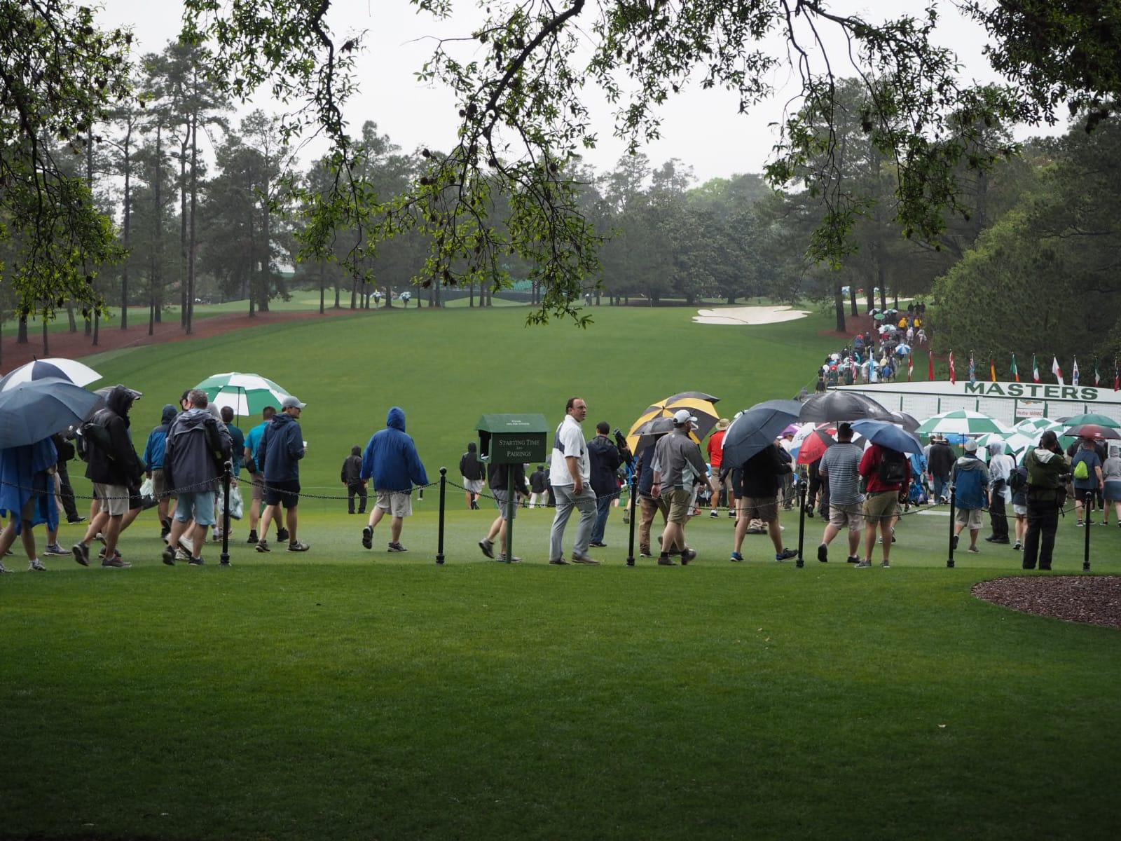 La lluvia fue protagonista en este martes de prácticas. © Rafael Cabrera